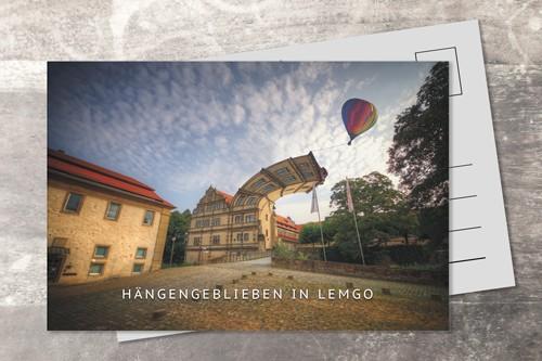 Postkarte 10x15 Hängengeblieben in Lemgo