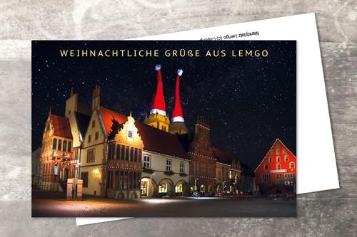 Postkarte 10x15 Xmas 2016 Klappkarte mit Umschlag