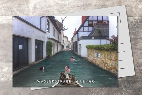 Postkarte 10x15 Wasserstrasse
