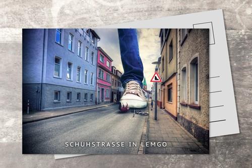 Postkarte 10x15 Schuhstrasse