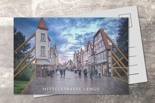 Postkarte 10x15 Fassade