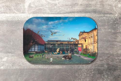 Fotomagnet Mittagspause am Landesmuseum Detmold
