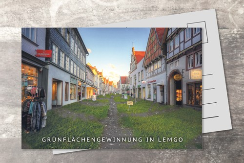 Postkarte 10x15 Grünflächengewinnung in Lemgo