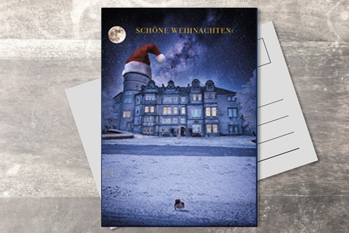 Postkarte 10x15 Xmas Residenzschloss Detmold