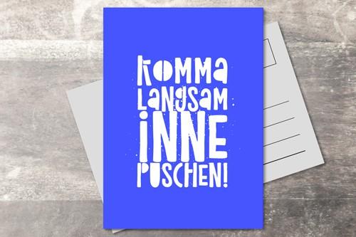 Postkarte 10x15 Puschen