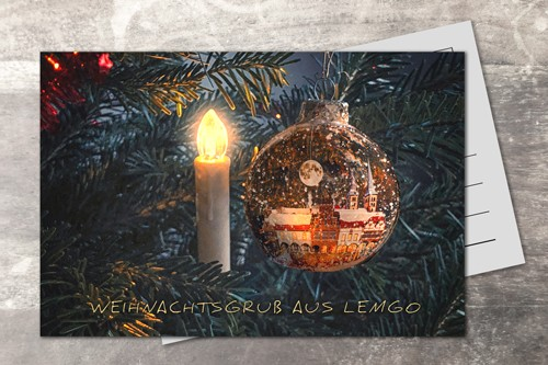 Postkarte 10x15 Xmas 2019 Kerze