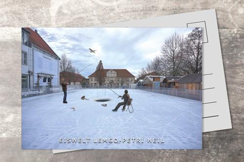 Postkarte 10x15 Eiswelt Lemgo