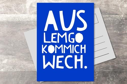 Postkarte 10x15 aus Lemgo wech