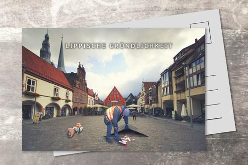 Postkarte 10x15 Lippische Gründlichkeit
