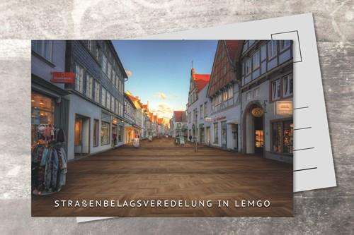 Postkarte 10x15 Straßenveredelung Mittelstraße