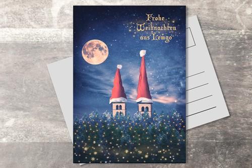 Postkarte 10x15 Xmas 2019 Grafik