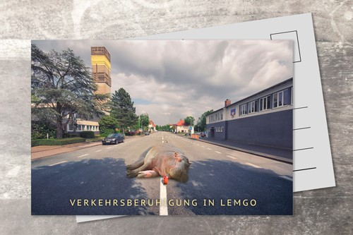 Postkarte 10x15 Verkehrsberuhigte Straße
