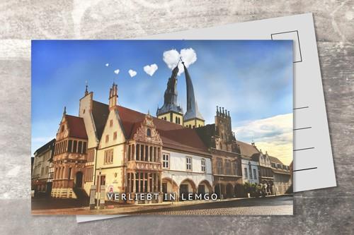 Postkarte 10x15 verliebt in Lemgo