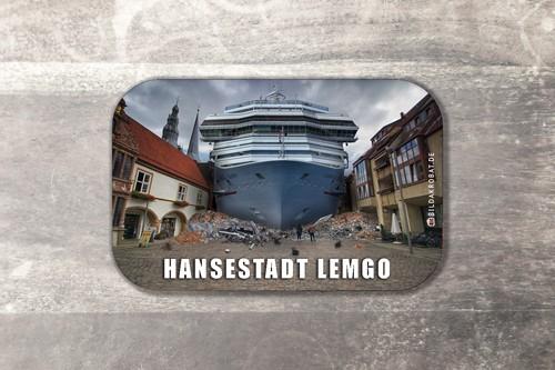 Fotomagnet Schiff Marktplatz Lemgo