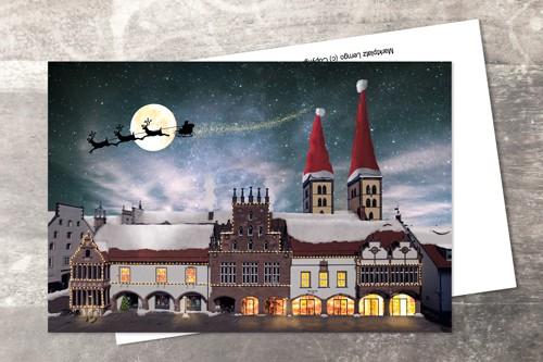 Postkarte 10x15 Xmas 2017 Klappkarte mit Umschlag