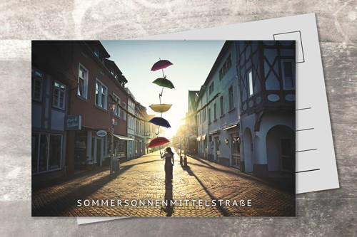 Postkarte 10x15 Sommersonnenmittelstrasse