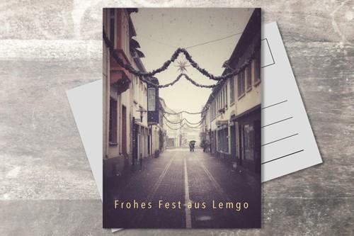 Postkarte 10x15 Xmas 2019 Haferstraße